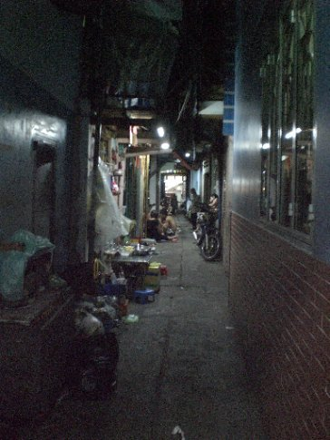 The street of our hostel in Saigon