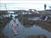 Bobby takes a dip in a home made bath at Hot Water Beach.: by seilerworldtour, Views[89]