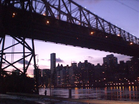 The view under the Queensboro Bridge