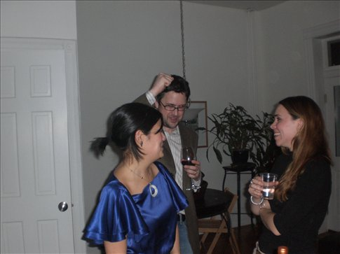 Kate chats to new friends Emily and Trey