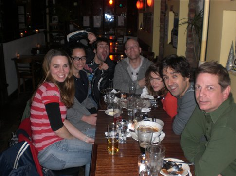 The Last Supper (from l-r: Kate, Jess, Mike, Sollie, Annie, Dan, Eric)
