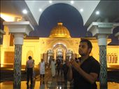 At the famous Guthia Mosque, a young man prays to Allah like all Muslims do..: by sentieri, Views[1198]