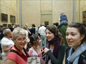 saying hi to the mona lisa - there she is in the background: by sestak_family, Views[214]