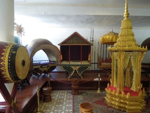 Some of the many elephant carriers belonging to the royal family