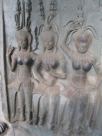 Pretty apsaras (nymphs) whose images you see all over Siem Reap