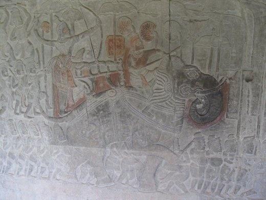 King riding elephant