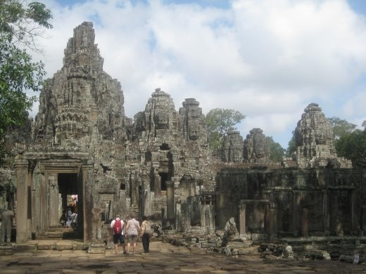 Bayon is famous for all of the faces carved into its towers looking out in the 4 cardinal directions
