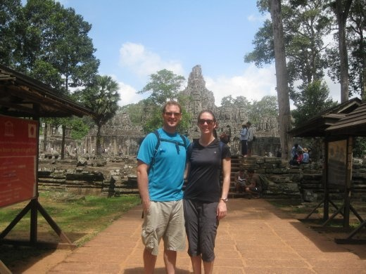 In front of Bayon- still lots more to see so we had to keep moving!