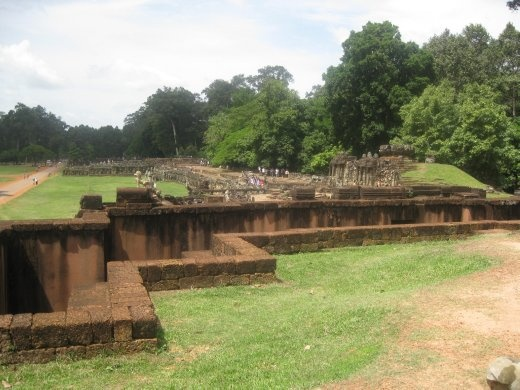 Looking past the trench from Leper King Terrace to Elephant Terrace