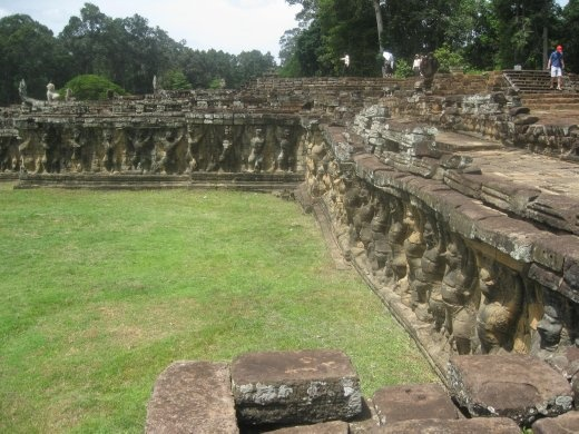 Carvings along elephant terrace