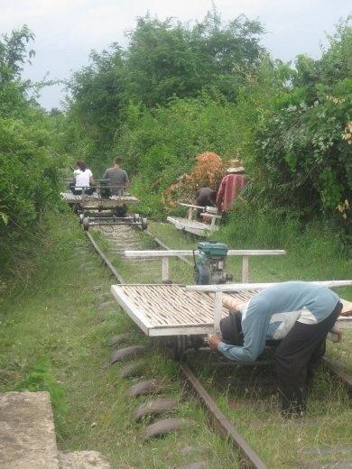 Bamboo train disassembly