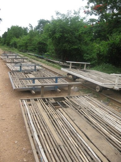 The bamboo train parking lot
