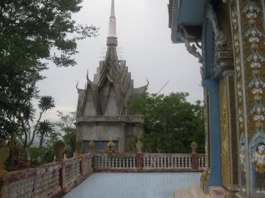 The temple at the top of the mountain outside Battambang