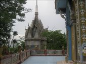 The temple at the top of the mountain outside Battambang: by sglass, Views[102]