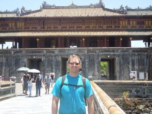 Joe in front of the Hue Citadel
