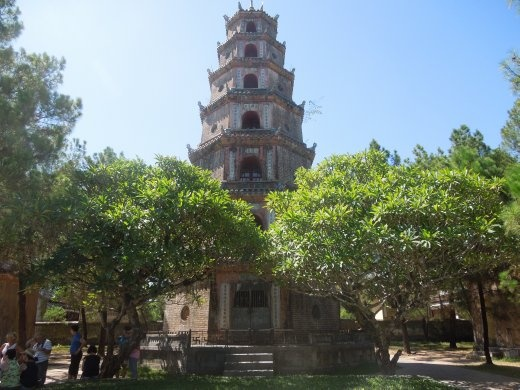 The tower of the Thien Mu Pagoda
