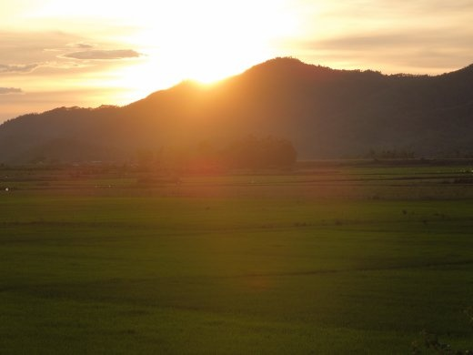 Sunset from Phong Nha Farmstay