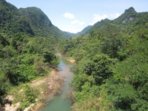 Jungle covered karst mountains of Phong Nha-Ke Bang