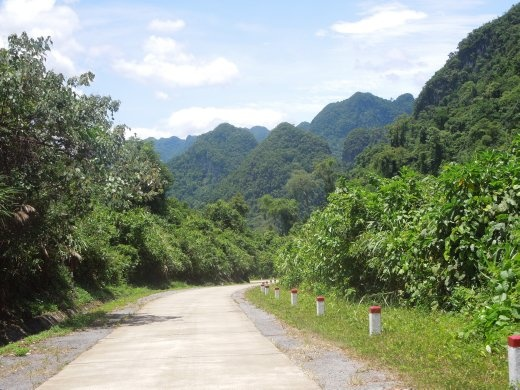 Lonely stretch of the Ho Chi Minh Trail- Victory Highway