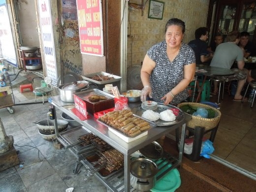Our Vietnamese grandma who insisted on feeding us!