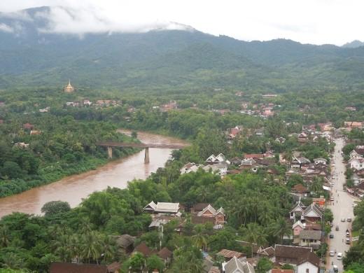 Luang Prabang from Wat Phu Si