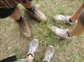 We are just a wee bit muddy from the day's efforts. Sam wins.: by sglass, Views[85]