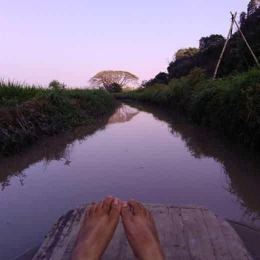 Boat ride in Hpa-An, Kayin State, Myanmar