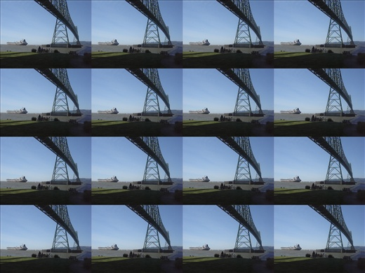 the Astoria bridge, my camera was on a weird setting, hence the multi images
