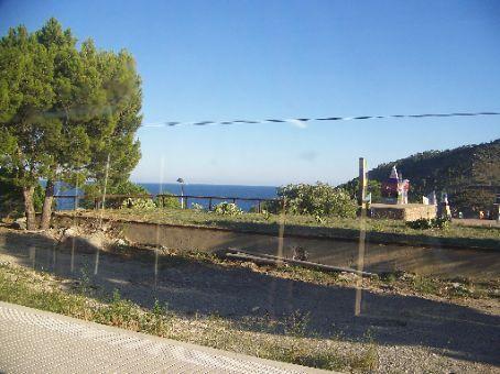 train ride north along coast