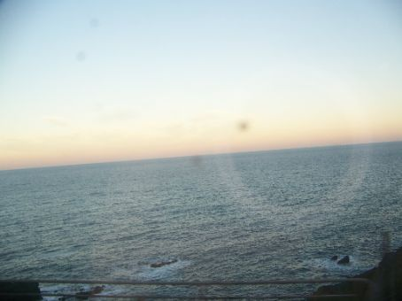 views of the sea whizzing by
