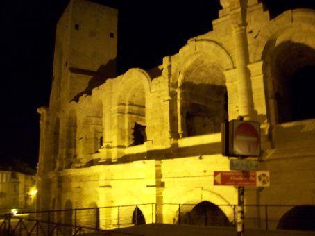 roman arena at night still has bull fights