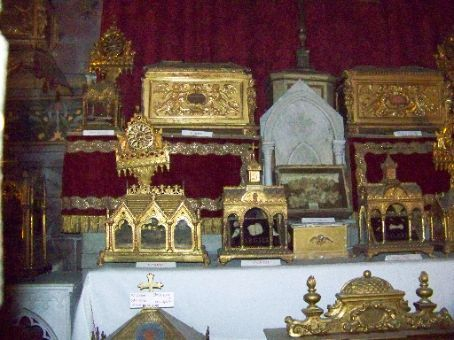 relic chapel gold boxes filled with obscure saints