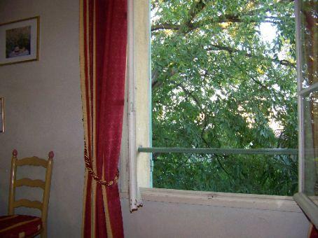 bedroom window at hotel calandal