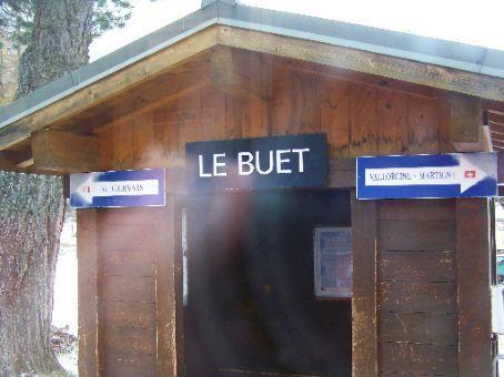 train station between Chamonix and Martigny