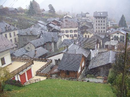 little town way high up in Switzerland