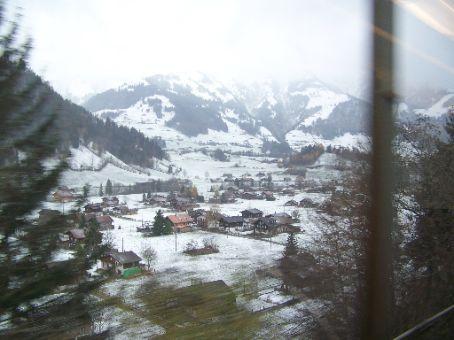 small towns far below