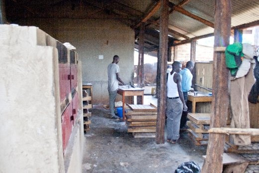 The cool thing about war ending is that people are now safe to start their own businesses and lead a peaceful life. Here is a bakery in Gulu that employs a few young guys. The smell of the bread baking was exceptional.