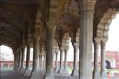 beautiful marble pillars at the temple inside the red fort in delhi.: by shelby5921, Views[680]