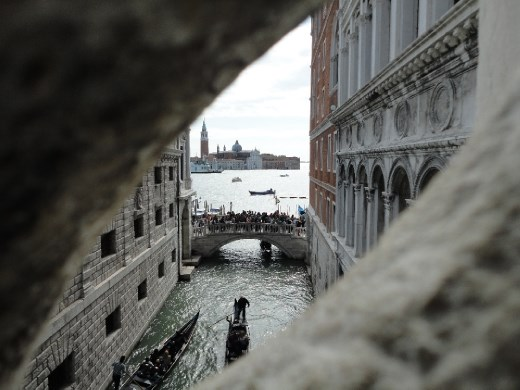 A view from the Bridge of Sighs.