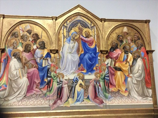 Late 14th century artwork by Lorenzo Monaco originally from a monastery in Florence.