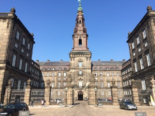 Christiansborg Palace, which has also been torn down, or burned down multiple times.