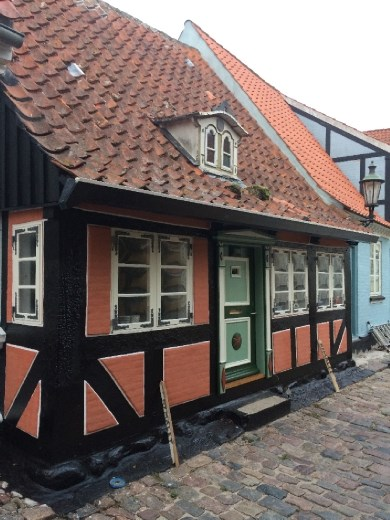 The dormer on this house is from the poop deck of a ship. Rick Steves calls this the cutest house in Aeroskobing, which is saying something considering the choices!