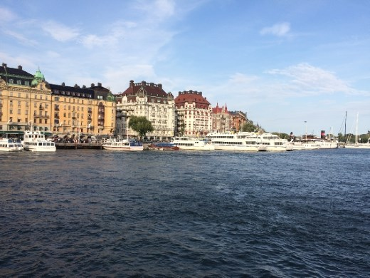 Coming back into Stockholm.