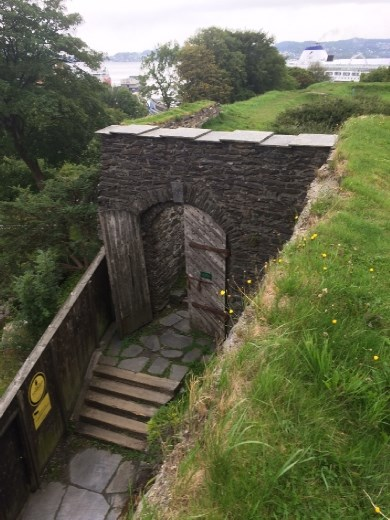 Top of the steps to the fortress.