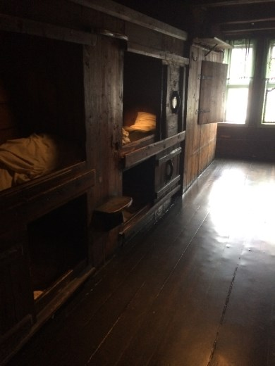 Dormitories in the Hanseatic Museum. Thankfully it's last owner refused to modernize the building, which was finally appreciated as the museum it is now.