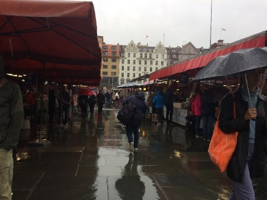 The very wet fish market, though unfortunately not many fish in this photo!