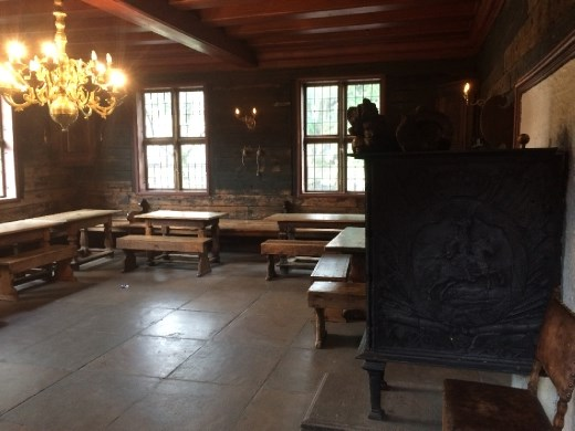 The communal room for the Hanseatic traders.