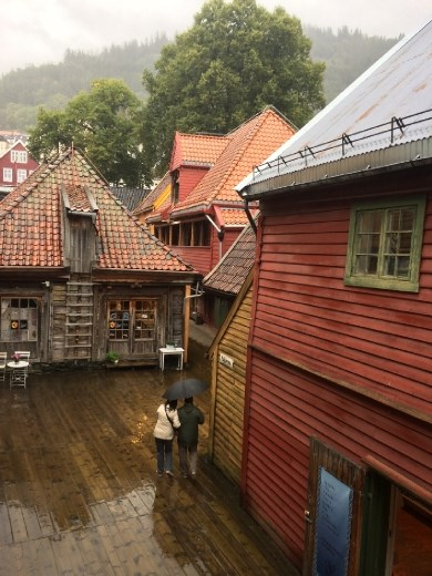 Bryggen - the old Hanseatic buildings turned shops.