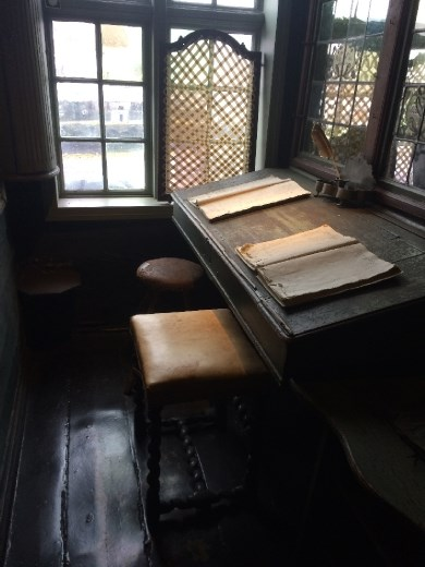 The Hanseatic clerk's desk in the unheated, and unlighted building!