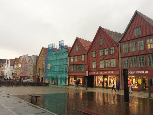 Iconic harbor front Bryggen.